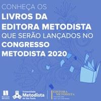 Editora Metodista lança seis livros durante o Congresso 2020, dia 19/10